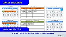 Make Schedule In Excel How To Create Excel School Calendar With Automatic Date