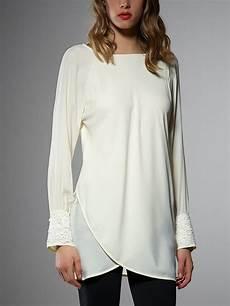 tunic tops sleeve patrizia pepe sleeve silk tunic top in white lyst
