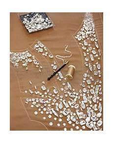 lesage for swarovski do embroidery and beading before