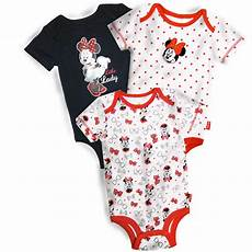 baby minnie mouse clothes disney minnie mouse infant s 3 pack bodysuits