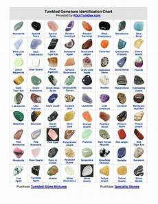 Stone Meanings Chart Tumbled Gemstone Identification Chart Converted From