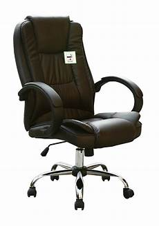 Warmiehomy Office Chair Swivel Faux Leather Armchair Height Adjustable by High Back Executive Swivel Computer Desk Faux Leather