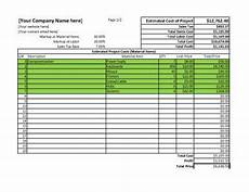 Spreadsheet Quotes 11 Job Estimate Templates And Work Quotes Excel Word