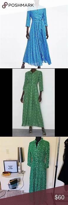zara clothes marilyn zara marilyn dress in green shirt dress nwt in 2020