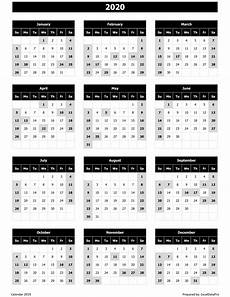 2020 calendar templates with holidays download 2020 yearly calendar sun start excel template