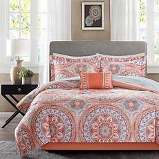 serenity complete bed and sheet set coral 10073423 hsn
