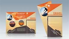 Travel Brochure Cover Design Photoshop Tutorial Trifold Travel Brochure Design Youtube