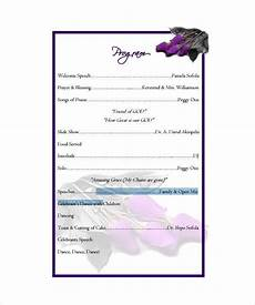 Birthday Party Program Birthday Program Template 11 Free Word Pdf Psd Eps