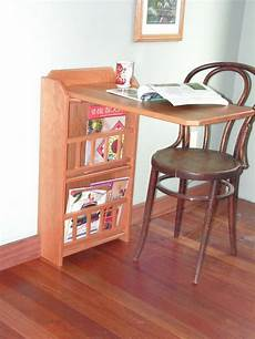 Foldout Table Fold Out End Table Desk Amp Magazine Rack Cherry For Rv