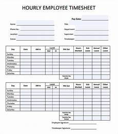 Free 23 Sample Time Sheet Templates In Ms Word Numbers