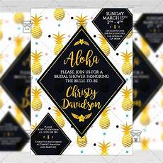 A5 Invitation Template Bridal Shower Invitation A5 Card Template