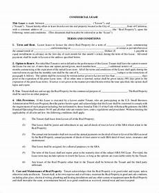 Free 9 Sample Commercial Lease Forms In Pdf Ms Word