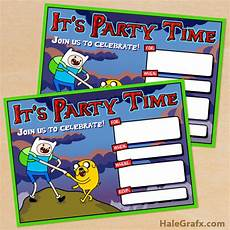 Adventure Time Party Invitations Free Printable Adventure Time Birthday Invitation
