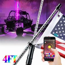 Led Whip Lights For Utv Xprite 4ft Led Whip Lights Rgb Flag Pole Bluetooth