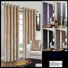crush crushed velvet curtains pair of fully lined