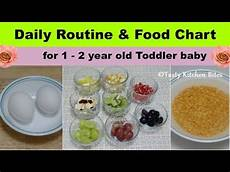 2 Year Old Food Chart Daily Routine Amp Food Chart For 1 2 Year Old Toddler Baby