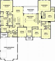 4 Bedroom Ranch House Plans Ranch House Plan 4 Bedrooms 3 Bath 3044 Sq Ft Plan 50 382
