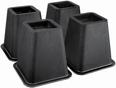 bed risers 4 set adjustable raise black furniture in