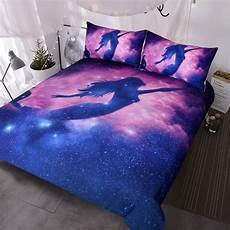 mermaid bedding size 3 pink purple galaxy
