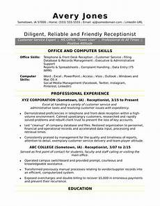 Receptionist Job Resumes Receptionist Resume Sample Monster Com