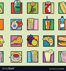 Pop Art Food Pop Art Food Pattern Royalty Free Vector Image