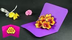 pop up card template flowers how to make pop up cards pop up flower card diy tutorial