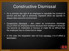 Constructive Discharge Letter Constructive Dismissal