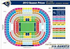 Edward Jones Dome Seating Chart Rows St Louis Rams Seating Chart With Images Edward