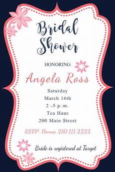 Bridal Shower Flyer Framed Pink Bridal Shower Invite Template Postermywall