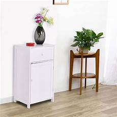 costway white floor storage cabinet bathroom organizer
