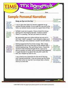 Examples Of Personal Narrative Essays Personal Narrative Example 5th Grade Teaching Pinterest