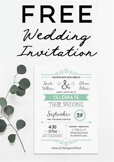 Invitation Free Download Free Wedding Invitation Template Mountainmodernlife Com