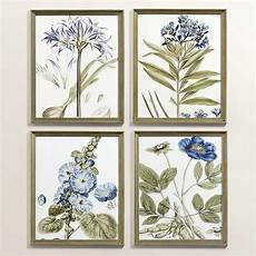 Ballard Designs Art Indigo Botanical Art Ballard Designs