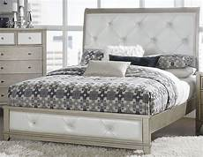 odelia pearl white king upholstered platform bed from