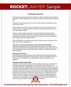 Cohabitation Agreement Sample Cohabitation Agreement Contract Form With Sample