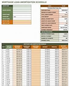 Free Mortgage Calculator And Amortization Schedule Free Excel Amortization Schedule Templates Smartsheet