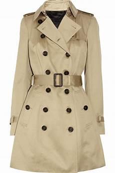trech coats burberry prorsum cotton sateen trench coat in beige