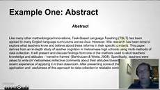 Examples Of A Research Essay Writing An Abstract For Your Research Paper Youtube