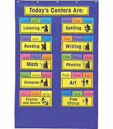 Cards And Pockets Color Chart Centers Pocket Chart