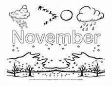 November Malvorlagen Die 12 Monate In Der Grundschule Ausmalbilder Monate