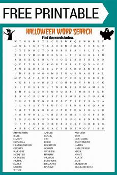 Halloween Themed Words Halloween Word Search Printable Free Download