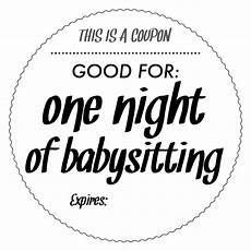 babysitting coupon templates babysitting coupons 183 ink amp serif