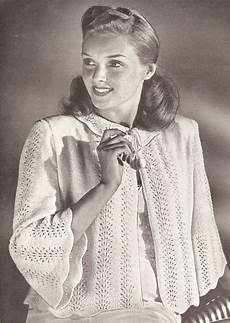 vintage knitting pattern to make bed jacket sweater knit