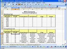 Employee Spreadsheets 2007 Extracting Information From Spreadsheet Records