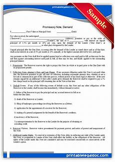 Free Printable Promissory Note Form Free Printable Promissory Note Demand Form Generic