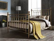 serene solomon 6ft king size brass metal bed frame