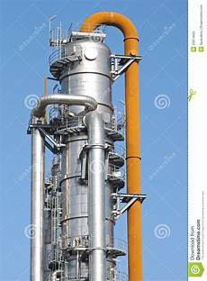 Distillation Tower Distillation Tower Stock Image Image Of Orange Power