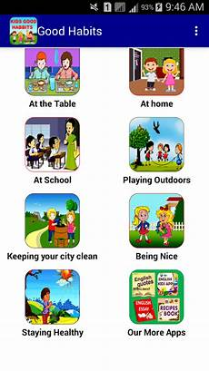 Good Habits Chart For School Good Habits For Kids For Android Free Download And
