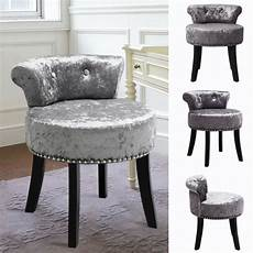 dressing table chair vanity stool bedroom low back padded