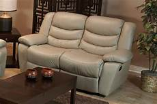 taupe leather reclining sofa loveseat recliner